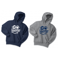 """Youth """"Go Bulldogs"""" Pullover Hoodie"""