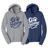 """Adult """"Go Bulldogs"""" Pullover Hoodie"""