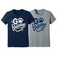 """Youth """"Go Bulldogs"""" Short Sleeve Tee"""